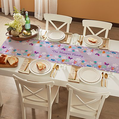 Spring Butterflies Table Runner