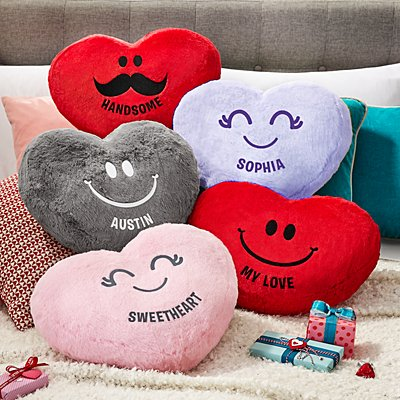 Plush Heart Character Cushion