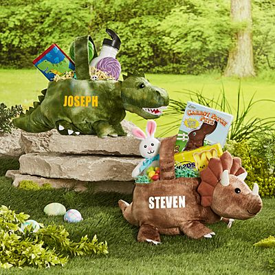 Pre-Historic Friends Plush Easter Basket
