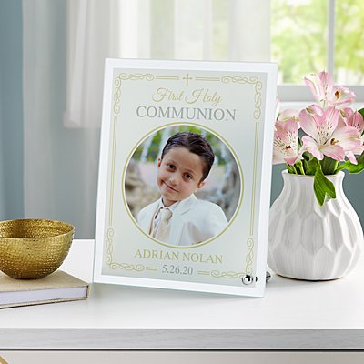 Holy Sacrament Glass Photo Frame