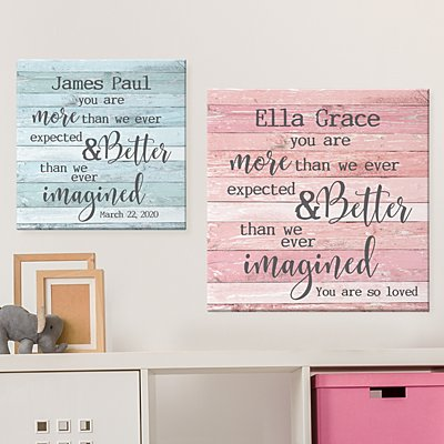 More Than We Expected Baby Canvas