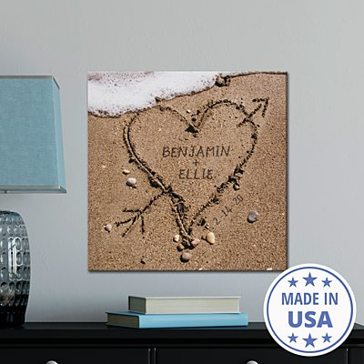 TwinkleBright® LED Heart in Sand Canvas