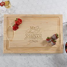 Happy Couple Wood Cutting Board