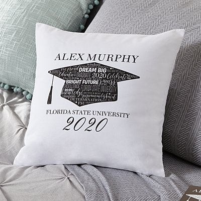 Hats Off! Graduation Throw Pillow