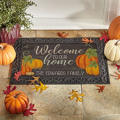 All Pumpkins Welcome Doormat