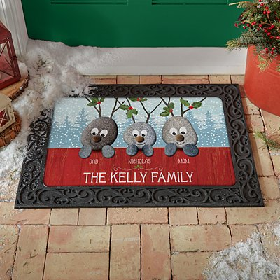 Reindeer Rocks Family Doormat