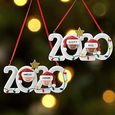 2020 Family Holiday Couple Bauble