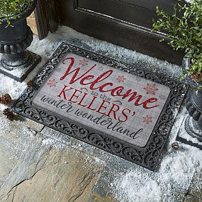 Welcome to Our Winter Wonderland Doormat