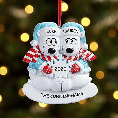 Beary Cool Couple Ornament