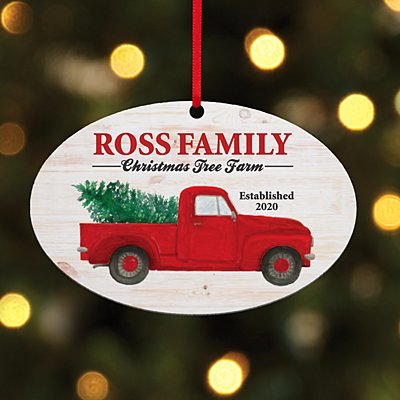 Christmas Tree Farm Oval Ornament