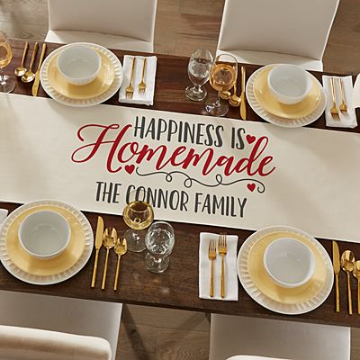 Happiness is Homemade Table Runner