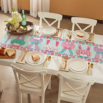 Bunnies Gather Here Table Runner