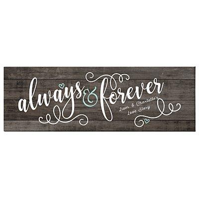 Always & Forever Canvas - 45x15 cm
