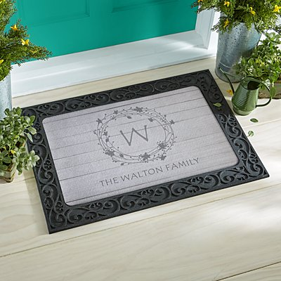 Floral Wreath Doormat