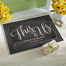 This is Us Wedding Doormat