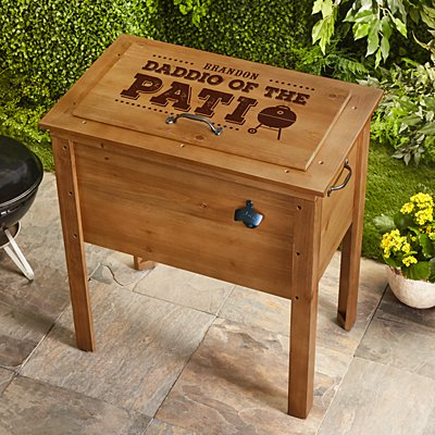 Daddio of the Patio Wooden Cooler