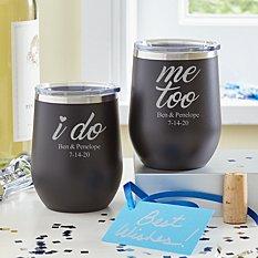 I Do, Me Too Insulated Wine Tumbler Set