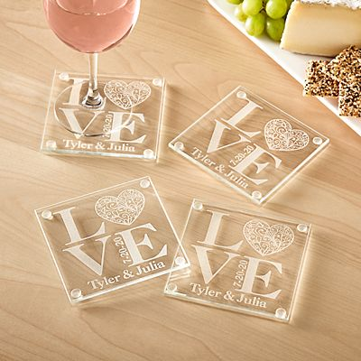 Our Love Glass Coasters