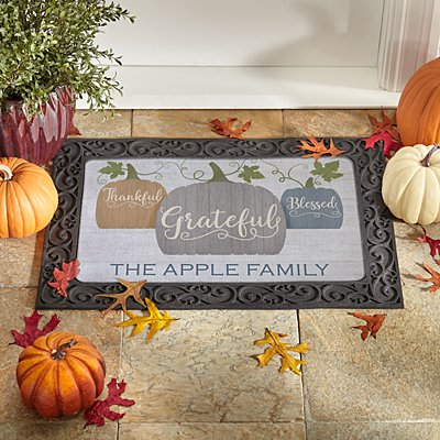 Farmhouse Pumpkins Doormat