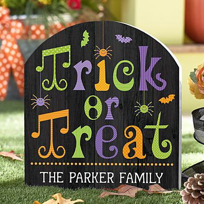 Halloween Outdoor Wooden Yard Sign