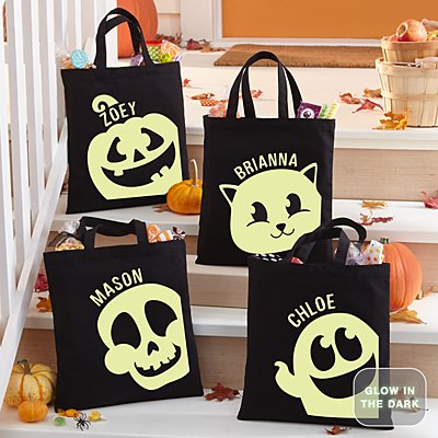 Glow In The Dark Halloween Party Treat Bag