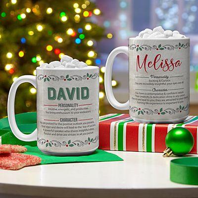 Holiday Name Meaning Mug