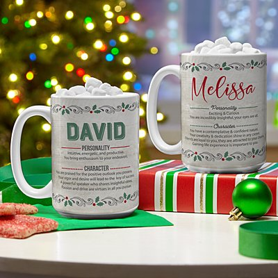 Christmas Name Meaning Mug