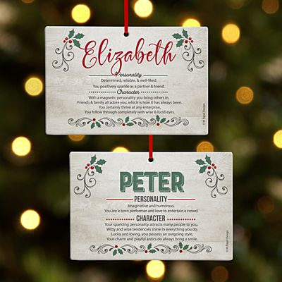 Holiday Name Meaning Rectangle Ornament
