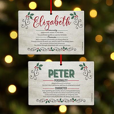 Holiday Name Meaning Rectangle Bauble