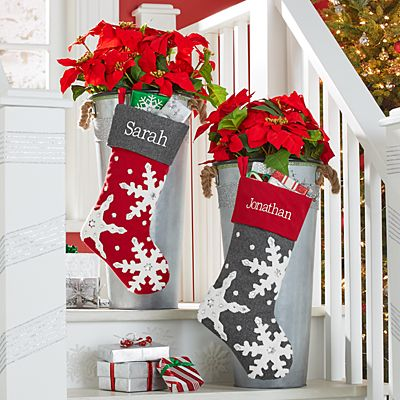 Jeweled Snowflake Stocking