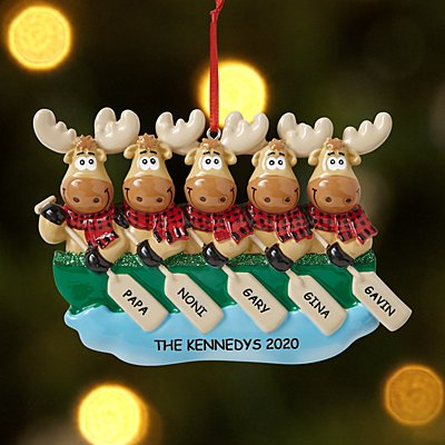 Merry Christmoose  Family Ornament