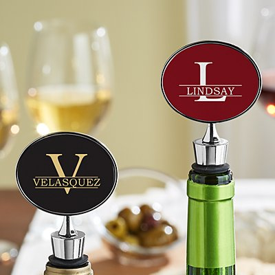 Name + Initial Wine Stopper
