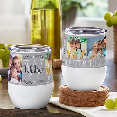Photo Memory Collage Insulated Wine Tumbler