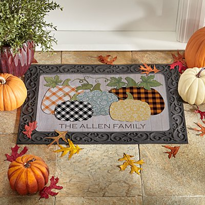 Pretty Pumpkins Doormat