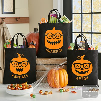 Smart Little Pumpkins Reflective Treat Bag