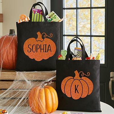 Spooky Sparkle Pumpkin Tote