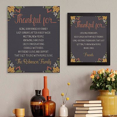 Thankful For Everything Canvas