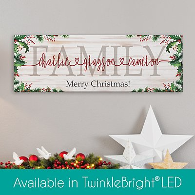 The Spirit of Christmas Connects Us Canvas