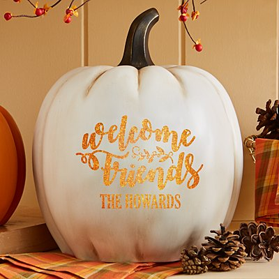 Light-Up Welcome Friends XL Cream Pumpkin