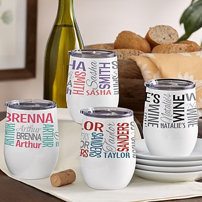 You Name It! Signature Insulated Wine Tumbler