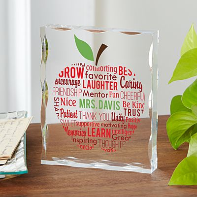 Apple For Teacher Acrylic Block