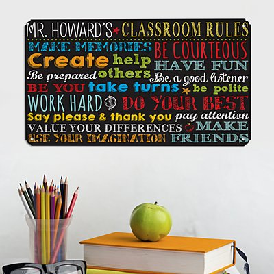 Classroom Rules Metal Sign