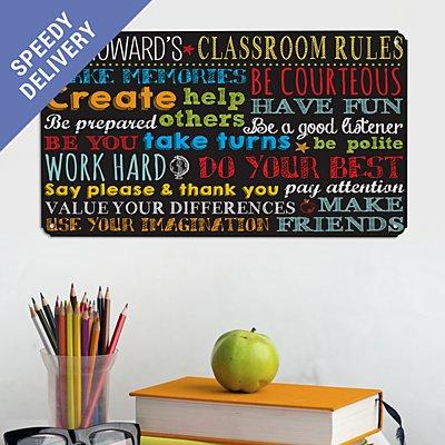 Classroom Rules Metal Sign