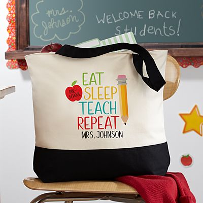 Eat, Sleep, Teach Tote Bag