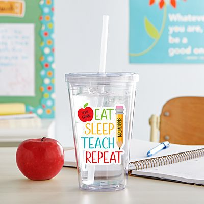 Eat, Sleep, Teach Tumbler