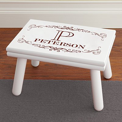 Engraved Name & Initial Step Stool