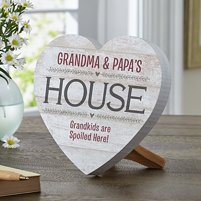 Grandparents House Mini Wooden Heart