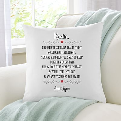 Hugs From Near & Far Throw Pillow