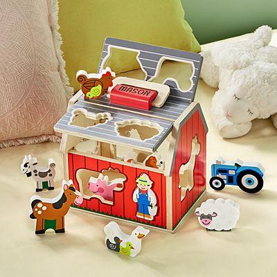Melissa & Doug®  Wooden Sorting Barn