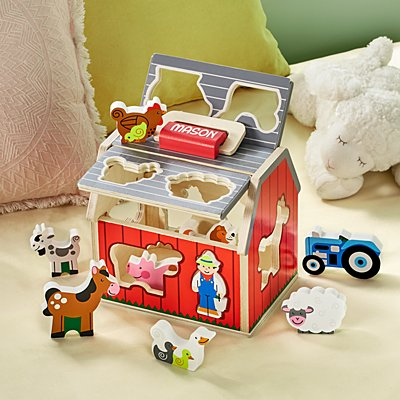 Melissa & Doug®  Wooden Sorting Barn